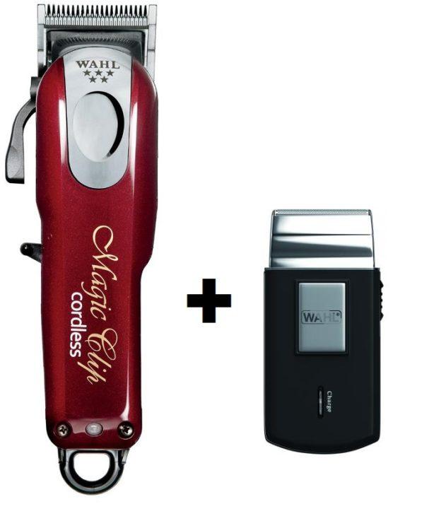 Cortapelos Wahl Magic Clip Cordless Profesional + afeitadora de viaje 34a49b65acae