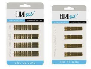 Horquillas 24 unidades Eurostil Bronces